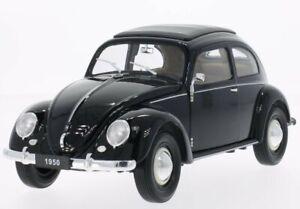 VW Volkswagen Käfer / Beetle - 1950 - black - WELLY 1:18