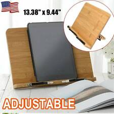 Portable Book Reading Stand Chof Desktop Book Holder Adjustable Page Paper Clips Kitchen Cook Recipe Stands Desk Bookstand for Textbooks Cookbooks Sheet Music