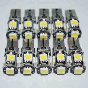 10x-T10-Led-Canbus-Error-Free-168-194-W5W-5-SMD-Car-Side-Wedge-White-light-Bulb