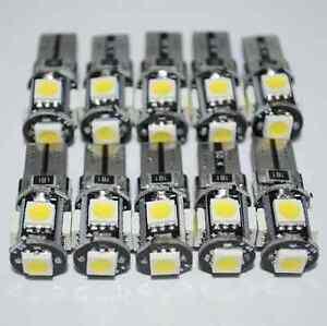 10x-T10-Led-Canbus-Error-Free-168-194-W5W-5-SMD-Car-Side-Wedge-White-light-Bulb