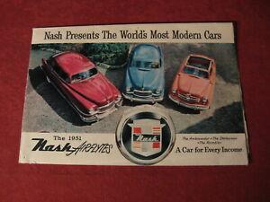 1951 Nash Sales Brochure booklet Catalog Book Old Original