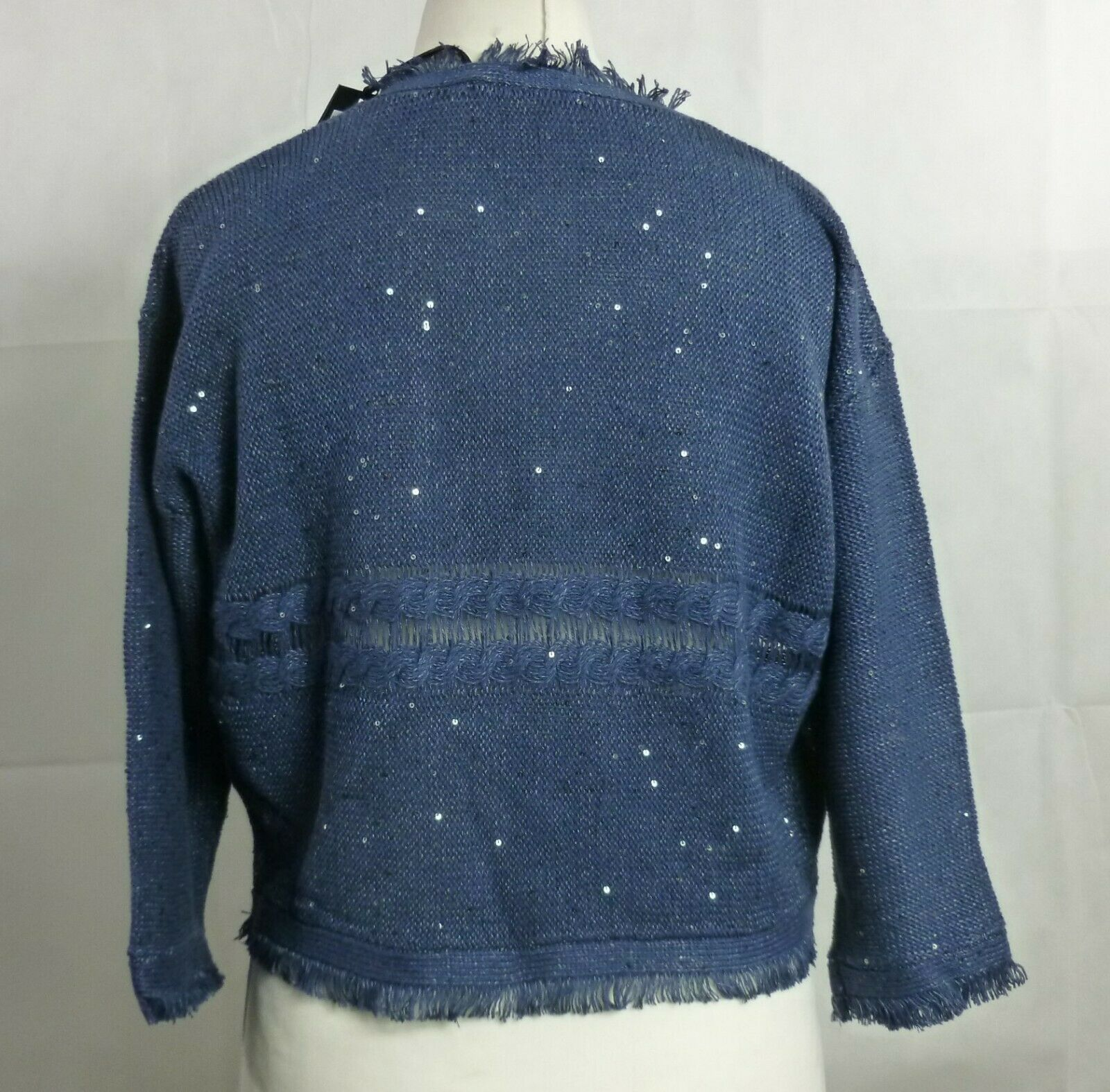 Luisa Cerano bluee Sequin Cardigan Size Size Size 38 Ladies UK Size 12 RRP  Box45 74 N d4788f