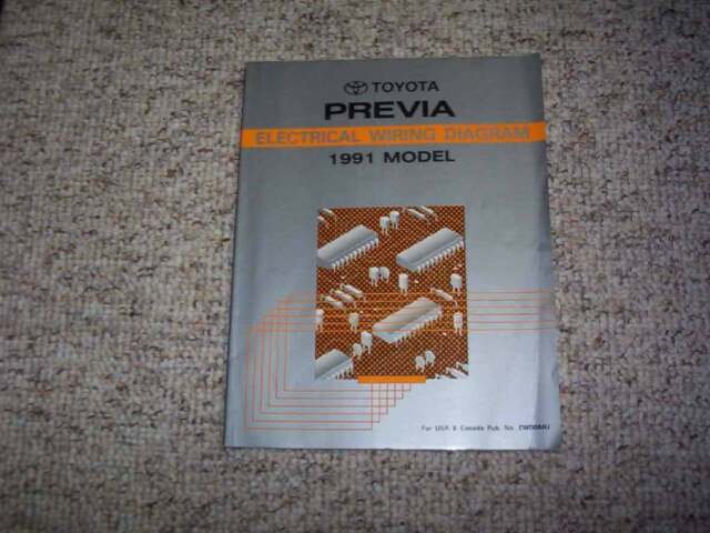 1991 Toyota Previa Van Electrical Wiring Diagram Manual Le