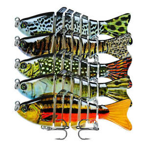 5Pcs Bionic Swimming Lure Suitable For All Kinds Of Jointed Bait Multi Fishes A+