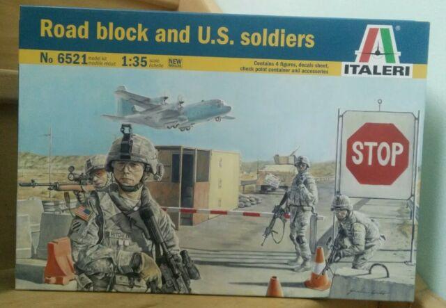 Italeri Road Block & US Soldiers 1:35 6521 neuf en boite