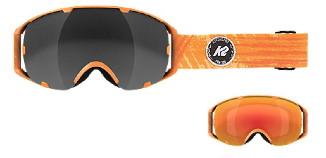 K2 Source lense change goggles with extra lens & case (CLOSEOUT priced) Orange