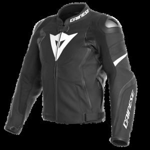 Dainese-Avro-4-Leather-Jacket-Black-White-Leather-Sport-Motorcycle-Jacket-New
