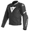 Dainese-Avro-4-Leather-Jacket-Black-White-Leather-Sport-Motorcycle-Jacket-New miniature 1