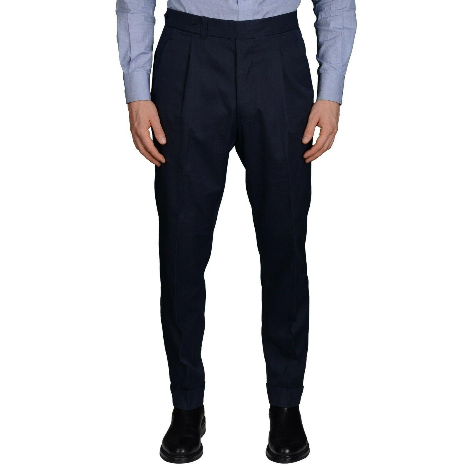 Alfani Classic Fit Solid Navy bluee Pleated 100% Wool Dress Pants 36x32