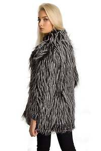 ff8d9665cf26 Womans Ladies Girls Soft Shaggy Faux Fur Coat Jacket | eBay