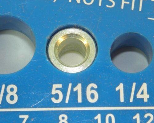 25 ZINC STEEL SPACER UNTHREADED 1//4 L X 5//32 ID X 5//16 OD #8 HOLE HF