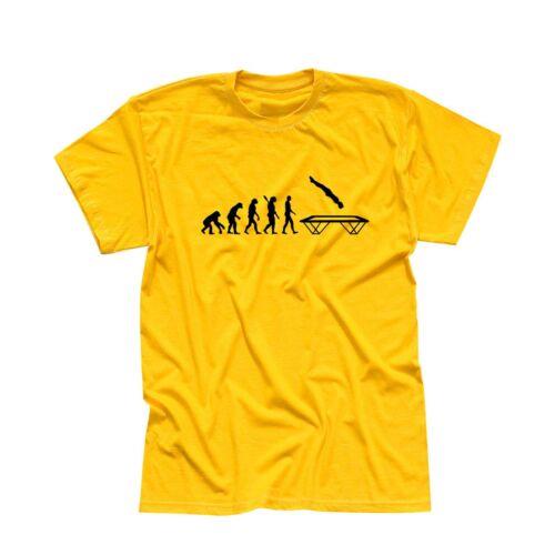 T-shirt Evolution Trampoline-SAUTER montagne Hudora Gymnastique 13 Couleurs Homme xs-5xl