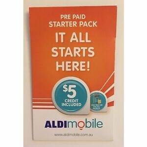 Details about AUSTRALIAN ALDI PREPAID NANO SIM CARD STANDARD MICRO $5 3G 4G  STARTER PACK KIT