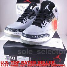 Nike Air Jordan 3 Retro sz 10 WOLF GREY CEMENT 2014 136064-004 black DS BNIB