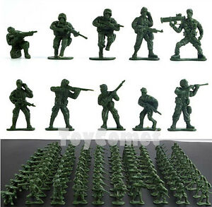 100-pcs-Military-Plastic-Toy-Soldiers-Army-Men-Green-1-36-Figures-10-Poses