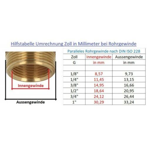 Hahnanschluß Adapter 1/' zu 3//4/' 2 in 1 Hahnstück LIME LINE BRADAS 5213