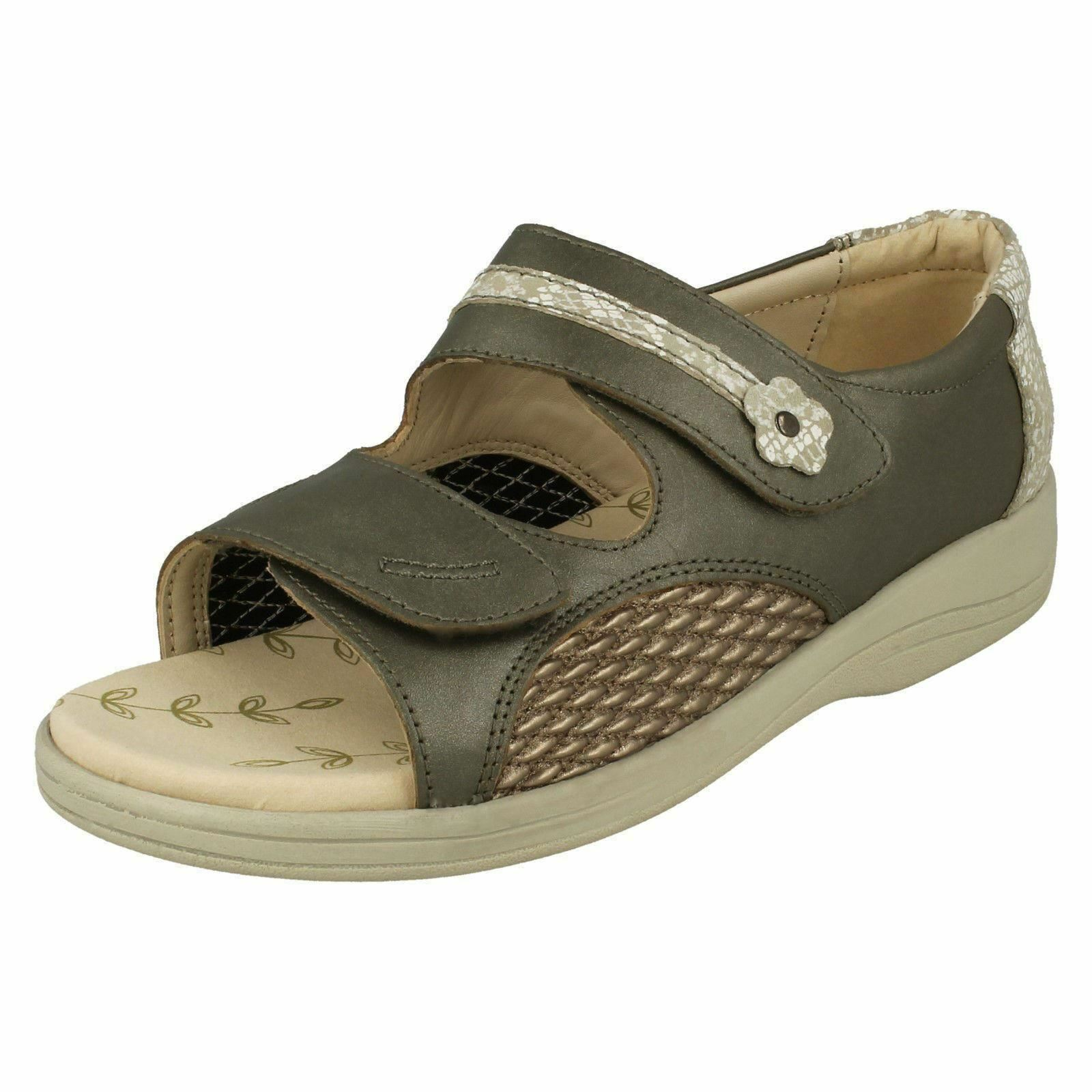 Padders Graceful Wide Fitting Leather Sandal