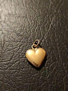 Pendentif  coeur Or 18 Carats or jaune