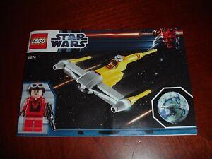 Appris Lego Star Wars 9674 Naboo Star Fighter Manuel D'instruction-afficher Le Titre D'origine