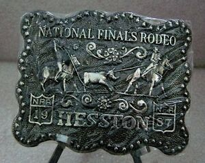 1987 Hesston National Finals Rodeo Belt Buckle Adult /& Youth FREE SHIPPING!