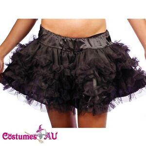 New-Black-Satin-Layered-Petticoat-Skirt-s-m-l-xl-2xl-3xl-4xl-5xl-6xl