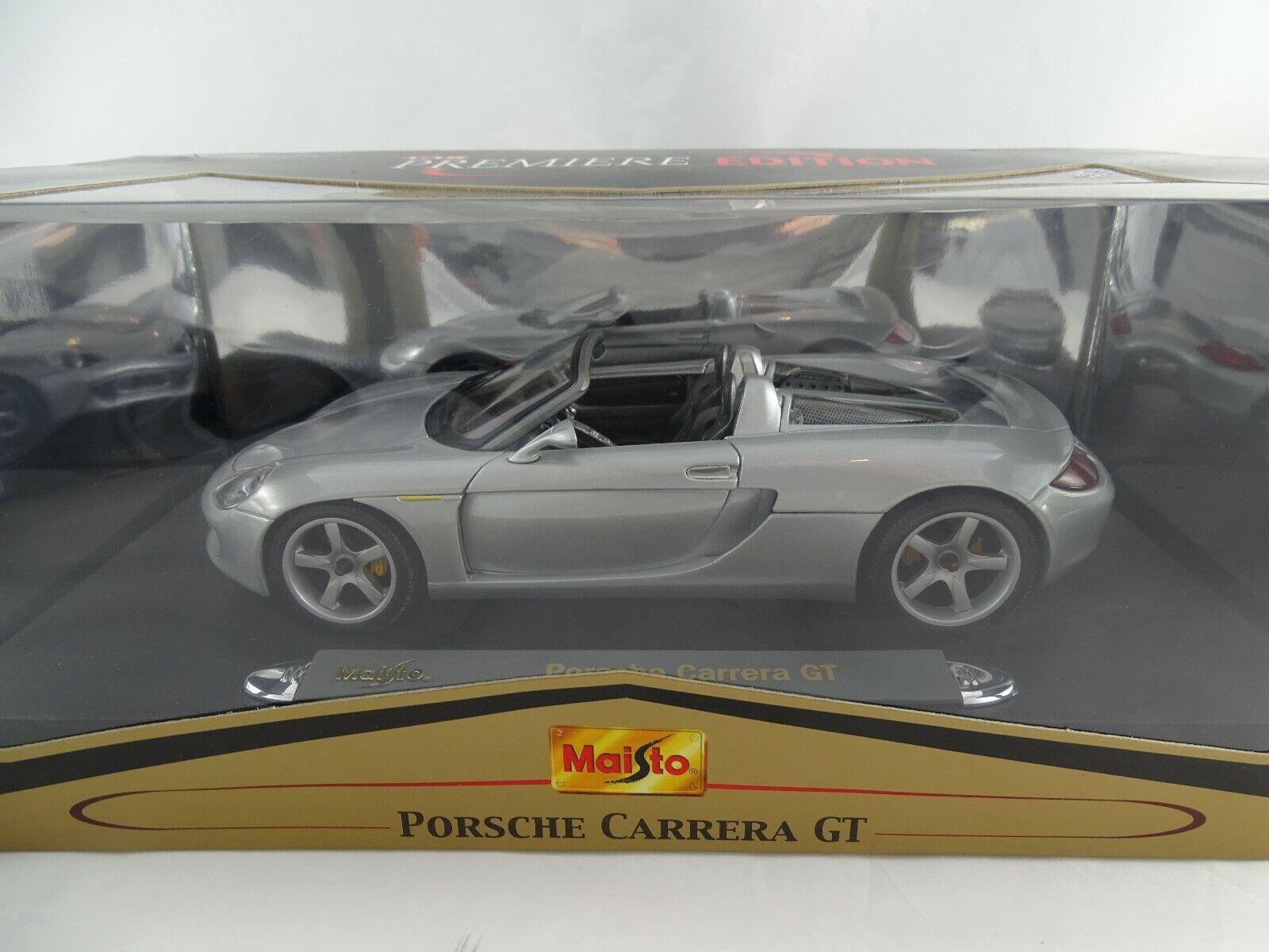 1 18 Maisto  36665  Porsche voiturerera GT Argent Neuf dans neuf dans sa boîte  forme unique
