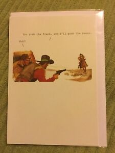 Image Is Loading Funny Cowboy Birthday Card New And Sealed 1