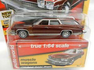 2018-AUTO-WORLD-1-64-PREMIUM-3B-BURGANDY-1974-Buick-Estate-Station-Wagon-NIP