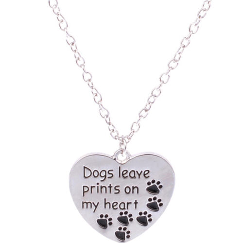 Family Best Friends Necklace Charms Chain Pet Dog Paws Pendants Women Men Gifts