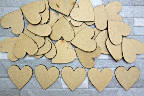 S11 en bois MDF Love Coeurs Craft Embellissement Décoration Scrapbook DECOUPI