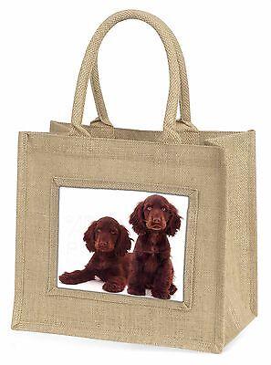 Schokolade Cocker Spaniel Hunde Große natürliche jute-einkaufstasche Weihnachten