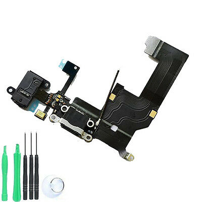 iPhone 5 5G USB Charging Dock Port & Mic & Headphone Jack Flex Cable - BLACK