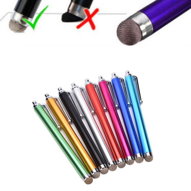 Metal Mesh Micro-Fiber Tip Touch Screen Stylus Pen For Smart Phone Tablet PC、Pop