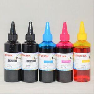 5X100ML-2-black-dye-refill-Ink-bottles-alternative-for-4-colors-Printer-CISS-C
