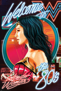 WONDER WOMAN 1984 WELCOME TO THE 80'S 91.5X61CM MAXI POSTER NEW OFFICIAL MERCH