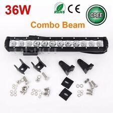 Slim 14'' 36W CREE LED Work Light Bar Spot Flood Combo Lamp Driving Offroad UTE