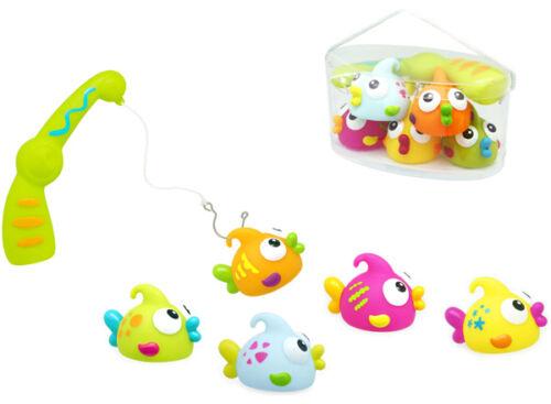 Knorrtoys Escabbo Angelspiel mit 5 Fischen Angel Kinder Badewanne Spielzeug NEU