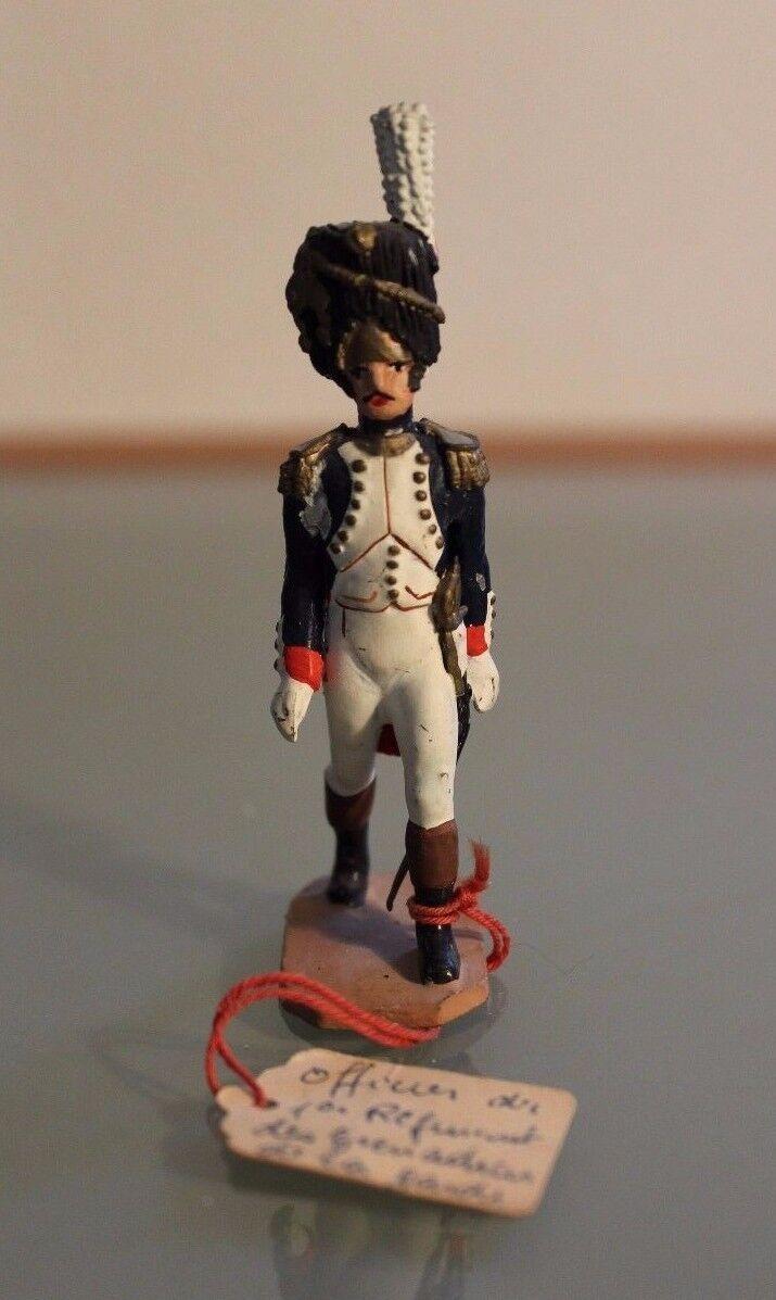 Figura Soldado Plomo Auger Oficial Granadero Súper Empire París Años 50