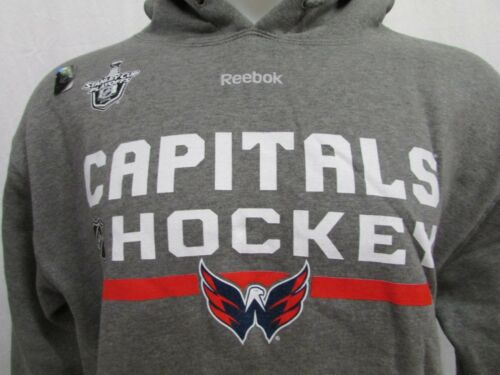 aaba54c29 1 of 7FREE Shipping Washington Capitals Playoff Reebok Men Pullover Hood  Sweatshirt NHL Gray M L XL