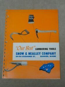 Vntg-Snow-amp-Nealley-Co-Catalog-Axe-Hatchet-Bark-Spud-Picaroon-Logging-Tools