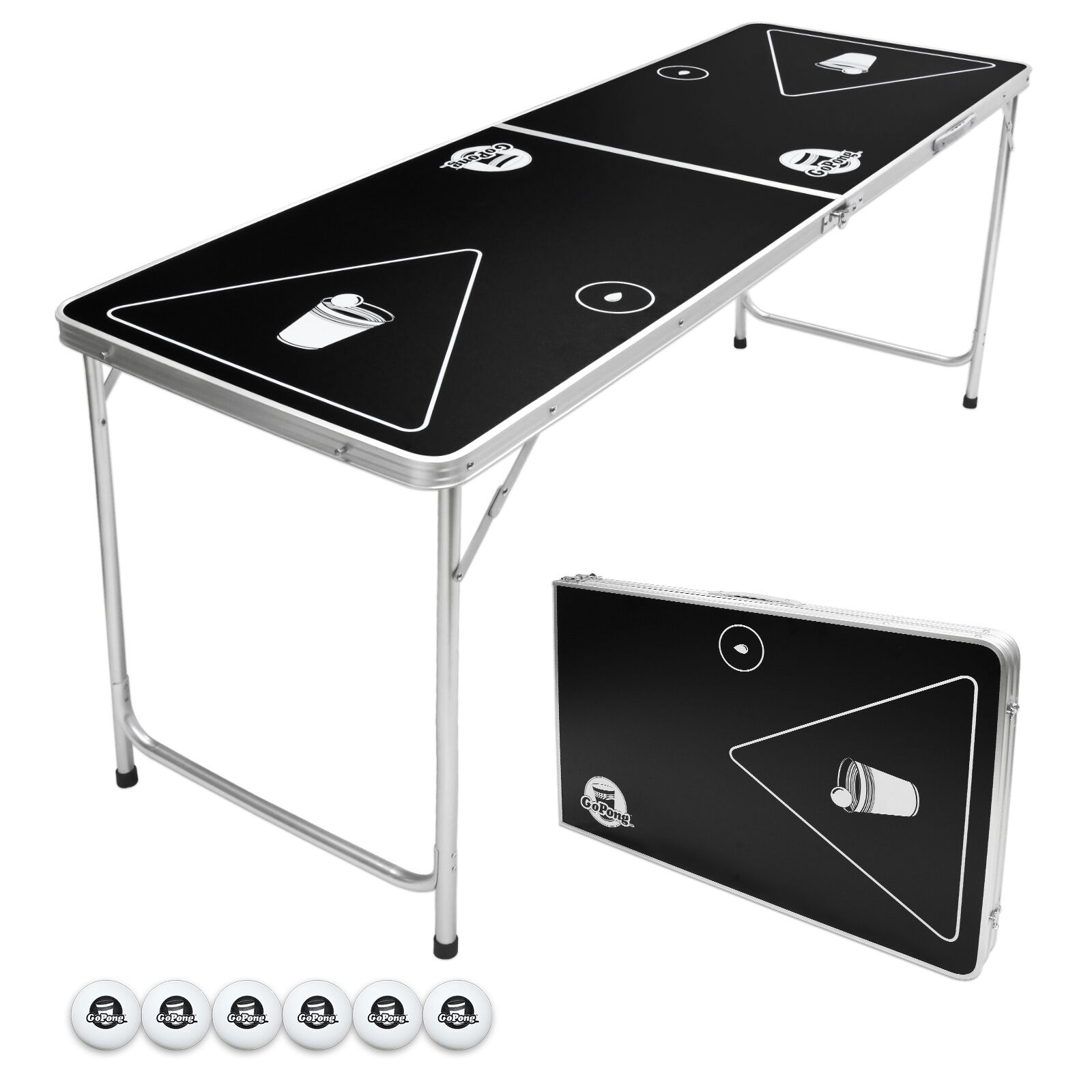 Compact  GoPong Brand Portable Beer Pong Table - 6FT  buy cheap new