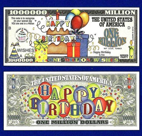 HAPPY BIRTHDAY DOLLAR BILLS-Funny FAKE-MONEY-NOVELTY 25 Gift K4