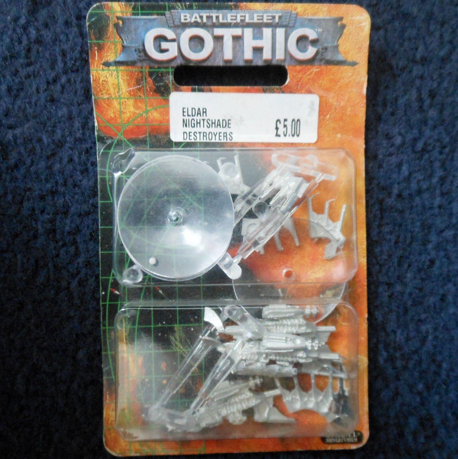 1999 battlefleet Gothic Eldar Nightshade destructores escolta Games Workshop Workshop Workshop GW MIB 343a3d