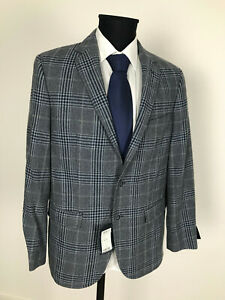 Daniel-Hechter-Tweed-Jacket-Jacket-Size-50-Virgin-Wool-Fitted-Jacket-New-with-Tags