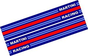 2-x-Le-Mans-Martini-Racing-style-Stripe-156cm-x-18-cmSticker-decal-Logos-648ad
