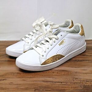 8 White Lo Puma Size Sneakers Mujers Gold Casual Shoes Match