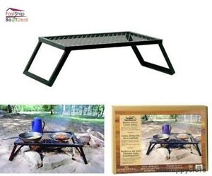 Image Is Loading Camping Grill Table Portable Outdoor Cooking Heavy Duty