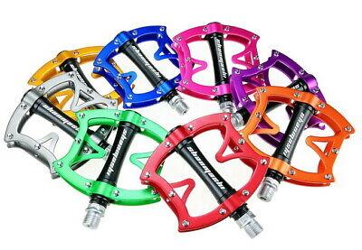 Aluminum MTB Road Mountain Bike Bicycle Pedal bearings Flat Pedals CA130 Fuchsia