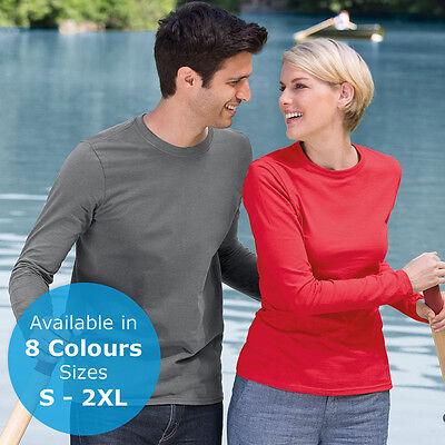 Gildan Long Sleeve Softstyle Men's Women's Unisex T-Shirt Tee NEW