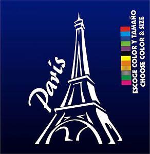 PEGATINA-TORRE-EIFFEL-STICKER-WALL-DECAL-AUFKLEBER-PARIS-CUSTOM
